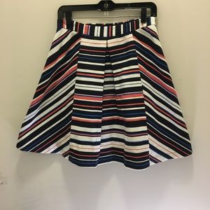 Maeve A Line Multi Stripe Skirt  Small